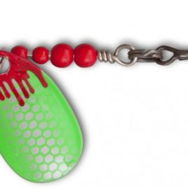 Magic Trout 2g 2,5cm Bloody Loony Spoon Rood/groen